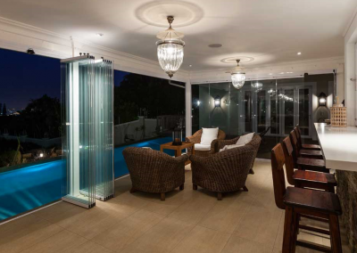 Frameless Glass Stacking Doors