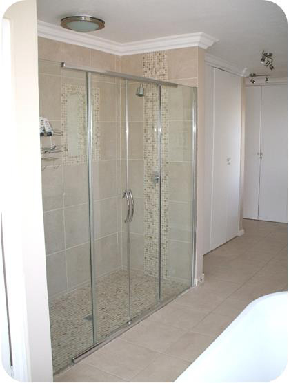 Illusion Centre Access Sliding Frameless Shower Door And Enclosure