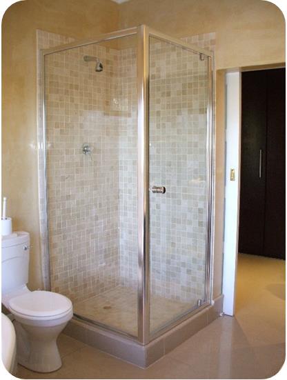 Mirage pivot frameless shower door with framed enclosure for Frameless shower doors cost