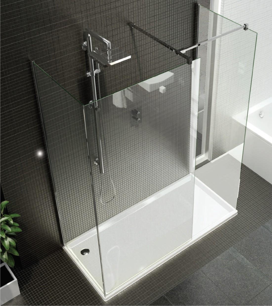 Vision Three Sided Enclosure Frameless Shower Showerline