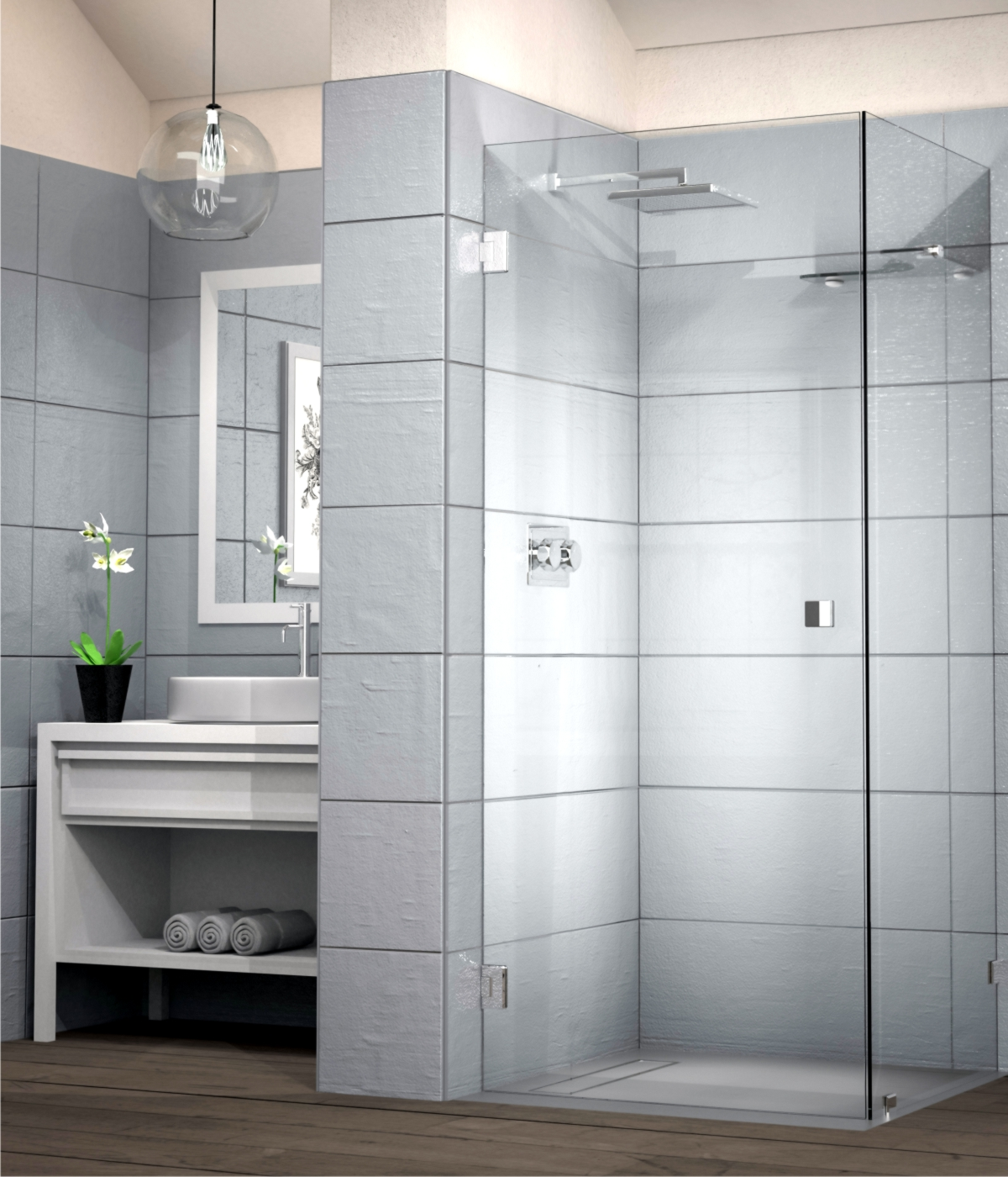 Frameless Showers Showerline
