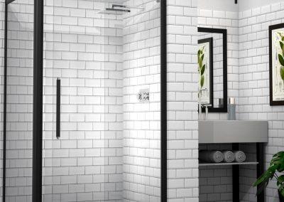 MIRAGE Bislider Door Framed Shower Black Rustic Finish