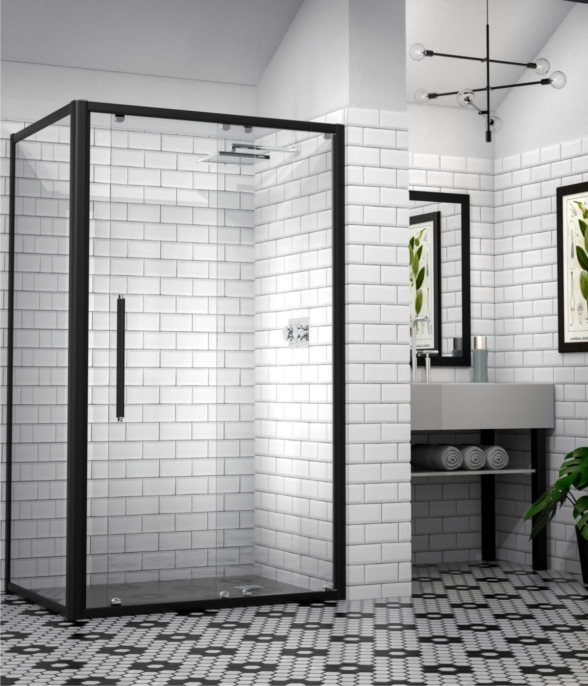 Market Favourite Silhouette Framed Shower Doors Showerline