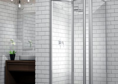 SILHOUETTE Infold Door Framed Shower