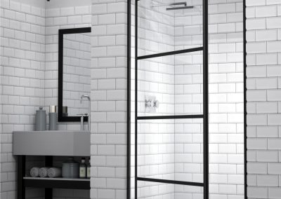SILHOUETTE Pivot Door Framed Shower Black