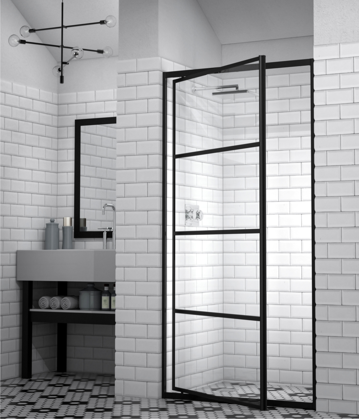 Market Favourite Silhouette Framed Shower Doors Showerline