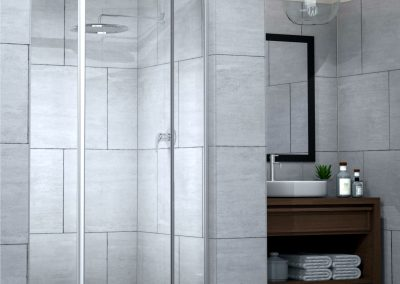 SILHOUETTE Pivot Door Framed Shower