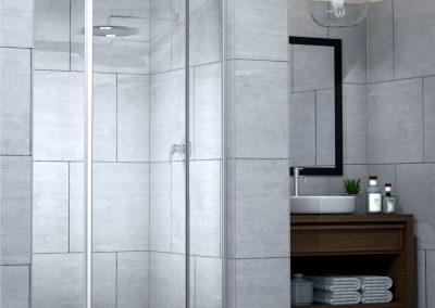 SILHOUETTE Pivot Door Framed Shower
