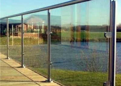 Showerline Glass Balustrade Frameless_stainless steel frame