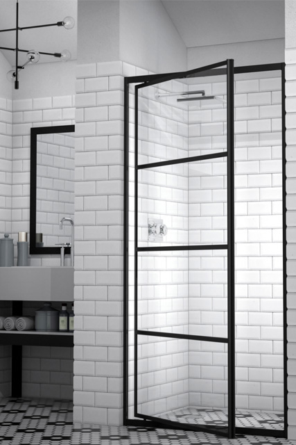 Black Steel Shower