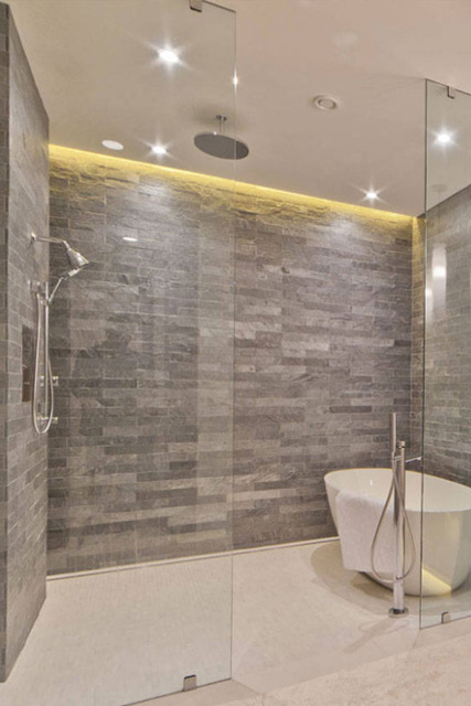 5 Quartzite Strips Shower