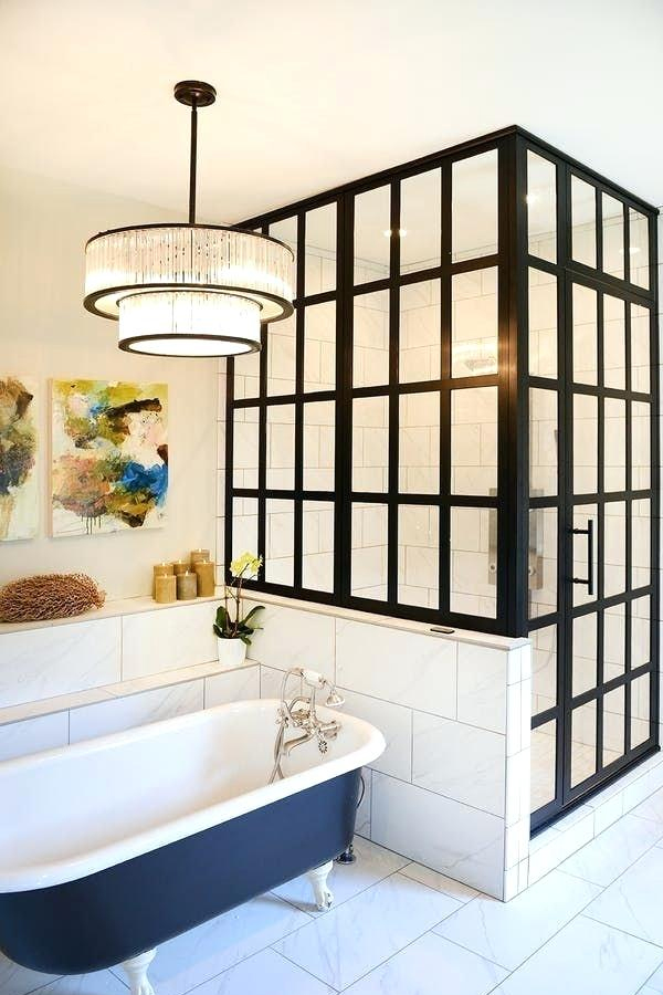 Black Frame with a Touch of Colour | Black-Framed Shower