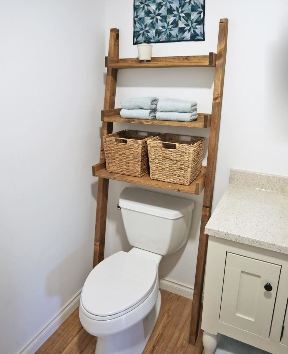 Use a Ladder | Effectively Use The Space In Your Small Bathroom